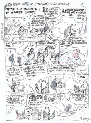 Big et Bang - Les Béatitudes revisitées 1 - Story-board de Larry Goetz