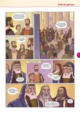 Bible-en-BD-Drôle-de-guérison 4 - Tournesol 400