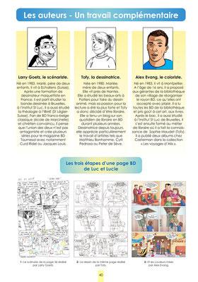 Luc et Lucie - Que ta volonté soit fête ! P.40 - Les auteurs - Un travail complémentaire - Album Luc et Lucie
