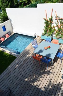 Terrasse aux couleurs méditerranéennes © Slowgarden