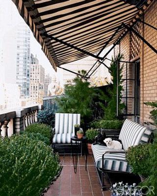 Terrasse aménagée © DR