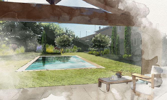 Aménagement d'un jardin privé à Alleins © Rc-Paysage