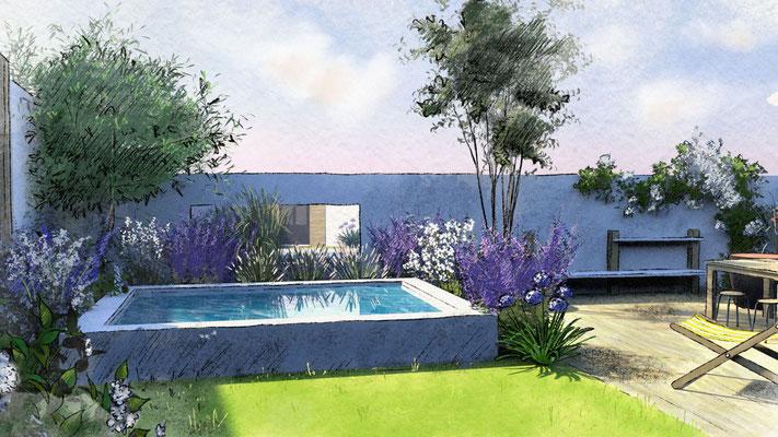 Aménagement d'un jardin au Roucas Blanc à Marseille © Rc-Paysage
