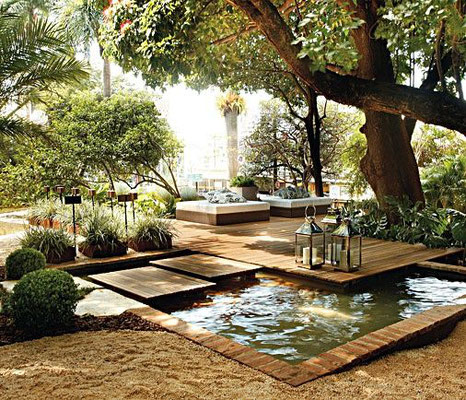 Bassins et jardin contemporain © DR