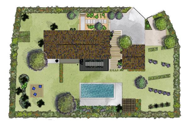 Création d'un jardin à Puyricard © Rc-Paysage