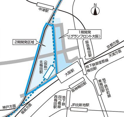 北梅田駅の位置