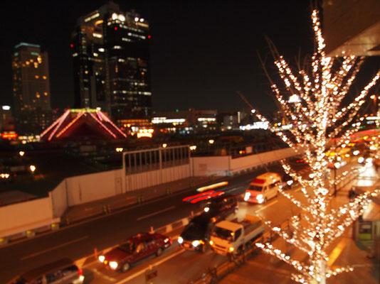 大阪駅・EVタクシー乗り場からの眺望