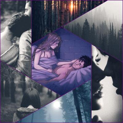 Die Collage von Devon & Sophia spiegelt den Inhalt und die Stimmung des gesamten Buches wider.