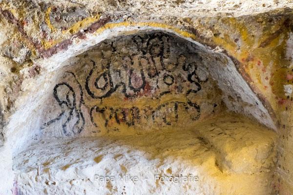 Malerei in den Höhlen von Matala
