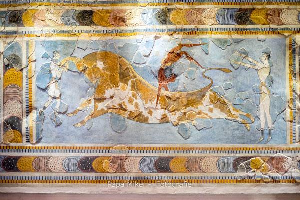 Fresko vom Stiersprung - Archäologisches Museum Heraklion