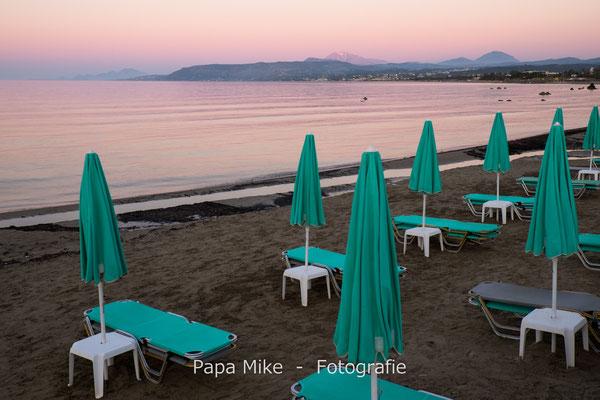 Abendstimmung am Strand von Georgioupoli