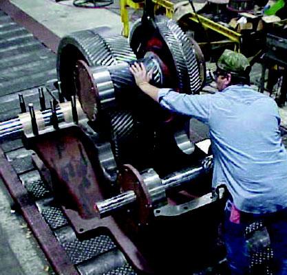 gearbox Shackleton en reparación reductor