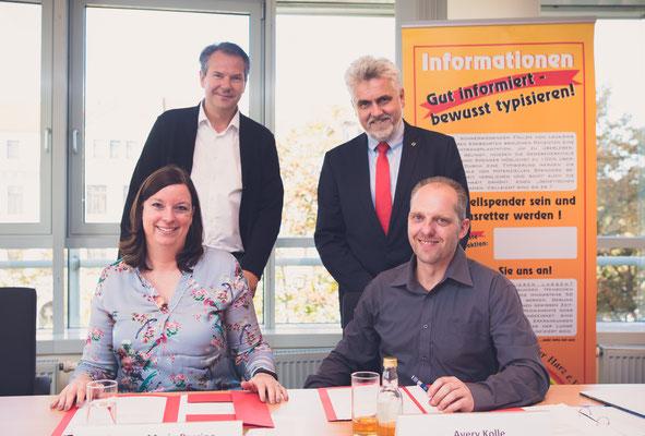 Spendenübergabe mit Wirtschaftsminister Prof. Dr. Armin Willingmann