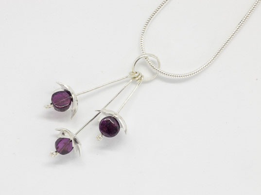 Sterling silver and amythyst