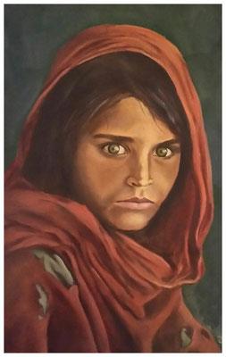 """""""Afghanisches Mädchen""""  60 x 40 cm"""