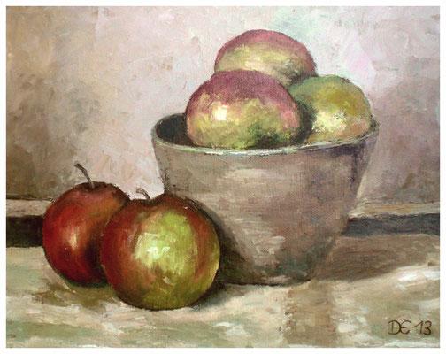 """""""Äpfel""""  24 x 30 cm"""