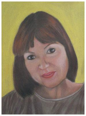 """Selbstportrait""  42 x 32 cm"