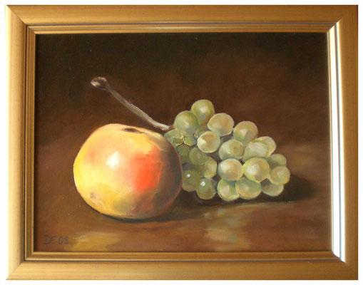 """""""Apfel und Traube""""  30 x 40 cm"""