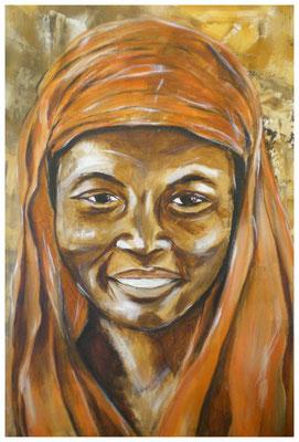 """Afrikanerin""  80 x 60 cm (verkauft)"