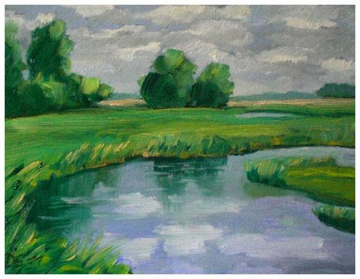 """""""Nordfriesland I"""" gespachtelt  18 x 24 cm"""