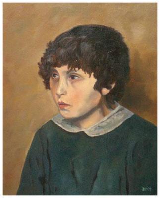 """""""Bauernjunge"""" nach Werner Weber   50 x 40 cm (verkauft)"""