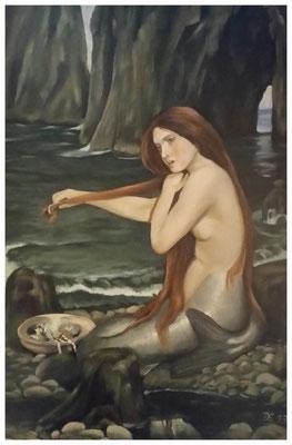"""""""Nixe"""" nach William Waterhouse 40 x 60 cm"""