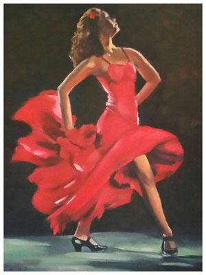 """Flamenco II""  30 x 40 cm"
