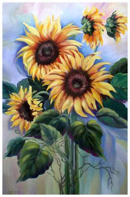 """Sonnenblumen I"" 40 x 60 cm"