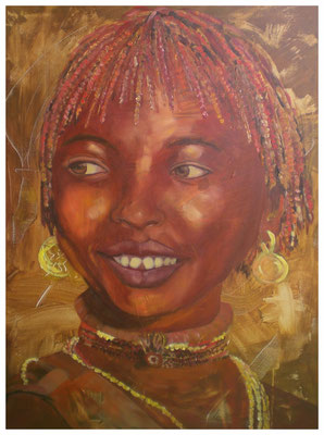 """Afrikanerin II""  60 x 80 cm (verkauft)"