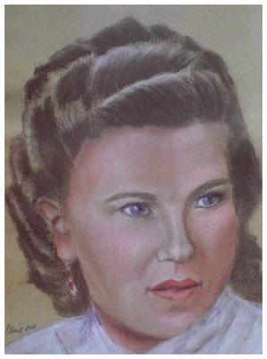 """""""Jugendbild meiner Mutter""""  32 x 42 cm"""