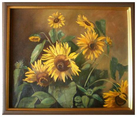 """""""Sonnenblumen III"""" nach Werner Weber  50 x 60 cm"""