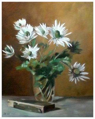 """""""Disteln"""" nach Werner Weber  40 x 50 cm"""