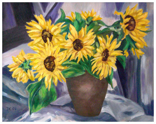 """Sonnenblumen II""   50 x 40 cm (verkauft)"