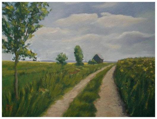 """""""Am Mündesee II""""  30 x 40 cm"""