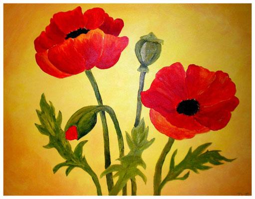 """Mohnblumen I""  30 x 40 cm (verschenkt)"