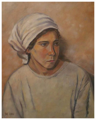 """""""Bauernmädchen""""  nach Werner Weber  40 x 50 cm"""