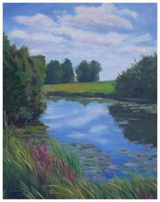 """""""Sommer am See""""  40 x 50 cm"""