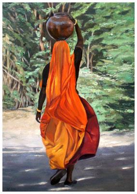 """""""Inderin""""  50 x 70 cm (verkauft)"""