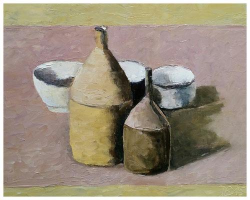 """""""Flaschen"""" nach Morandi  24 x 30 cm"""