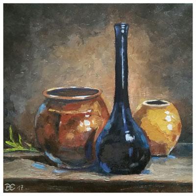 """""""Blaue Flasche"""" 30 x 30 cm"""