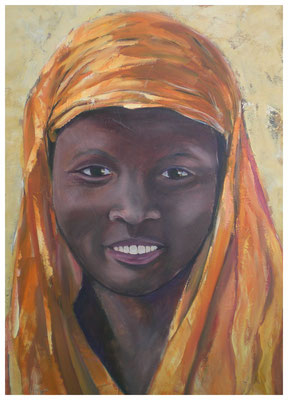 """Afrikanerin I""  60 x 80 cm (verkauft)"