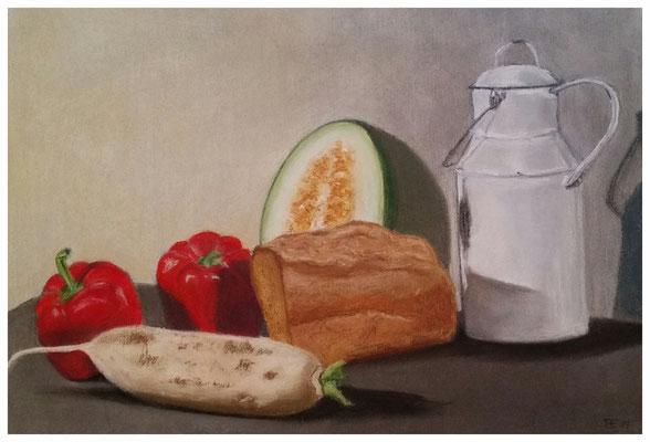 """Lebensmittel""  36 x 50 cm"