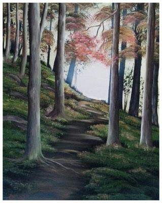 """Waldweg II""  40 x 50 cm"