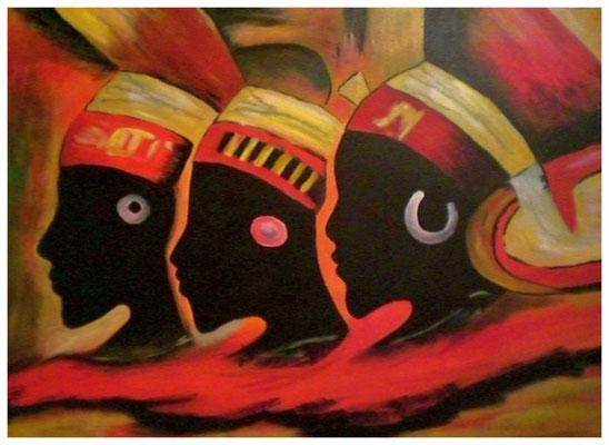 """""""Afrikaner""""  40 x 60 cm (verschenkt)"""