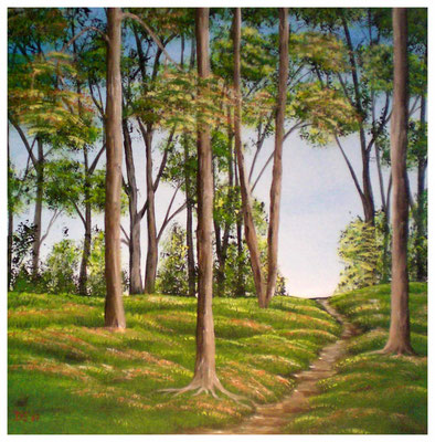 """Waldweg""  50 x 50 cm"