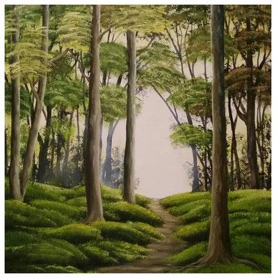 """""""Waldweg I""""  50 x 50 cm"""