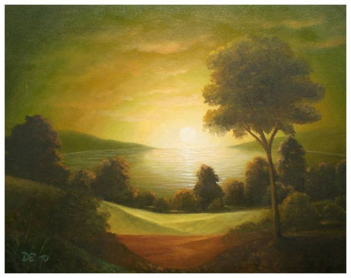 """Sonnenaufgang""  33 x 41 cm"