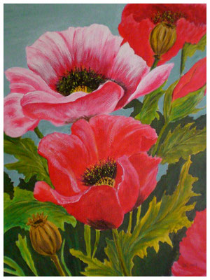 """""""Mohnblumen II""""  38 x 48 cm (verkauft)"""