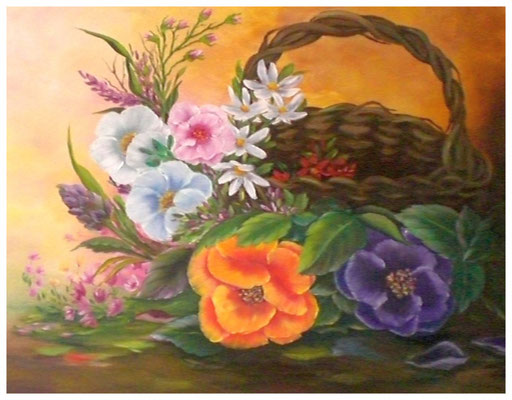 """Blumenkorb""  40 x 50 cm"