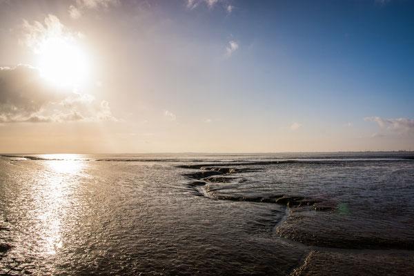 Siel in Jadebusen Nationalpark Wattenmeer Niedersachsen